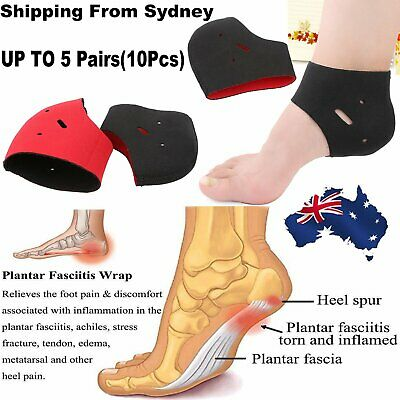 2-10 X Plantar Fasciitis Support Protector Heel Arch Brace Foot Pain Relief Wrap