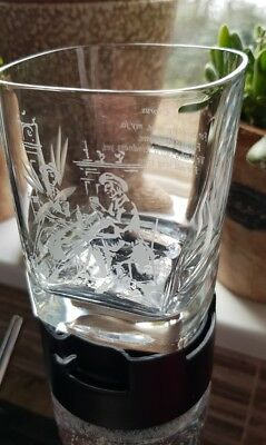 Cut Glass Whisky Tumbler /Glass with Auld Lang Syne