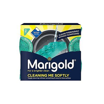 28 x Marigold Vileda Active Cleaning Me Softly Gentle Non Scratch Scourer 14x2