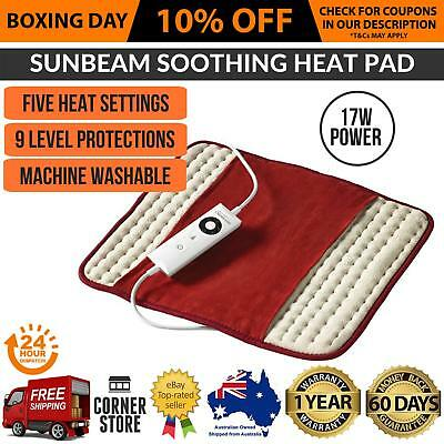 Sunbeam Heat Pad Pain Relief Soothing Heating Mat Electric Back Joint Tension