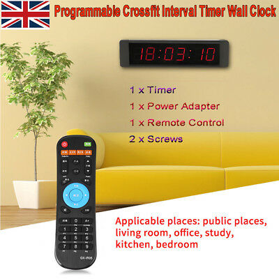 LED Programmable Remote Crossfit Interval Timer Wall Clock for Fitness Training