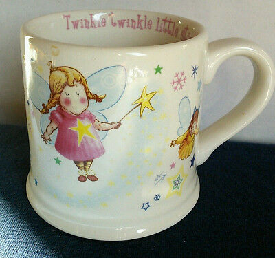 Child's Anderton Pottery Mug Cup Fairies Twinkle Twinkle Little Star England