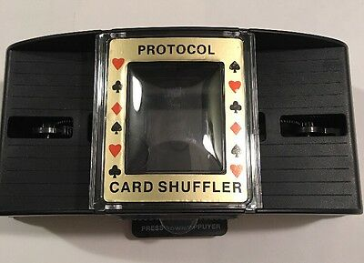 Casino Deluxe Automatic 2 Deck Card Shuffler Poker Texas Hold'em Black Jack