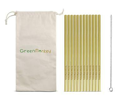Eco Friendly biodegradable Reusable Bamboo Drinking Straw Plastic Free 12 Pack