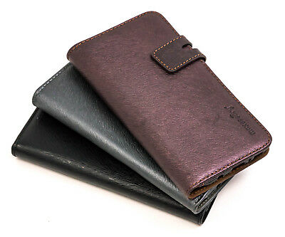 Samsung Galaxy S8 Genuine Leather Folio Card Holder Wallet Cover Case