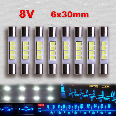 8x LED Lamp Marantz 2385 2500 2600 2325 Dial Scale Light Fuse Bulb Replacement