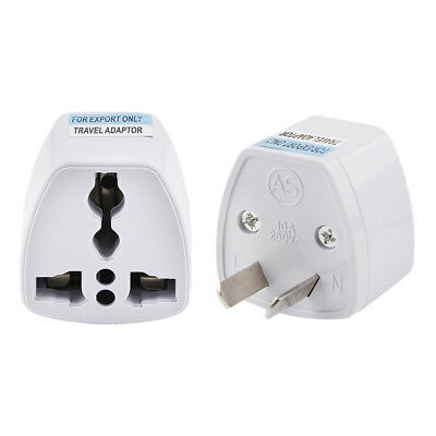Universal UK EU US CA To AU Australia AC Power Adapter Travel Converter 10A 250V