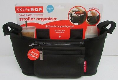 Skip Hop Grab and Go Attachable Stroller Organizer with Cup Holder in Black