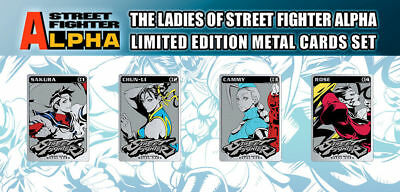Sdcc 2018 Udon Ladies Of Street Fighter Aplpha Metal Card Set Limited Edition