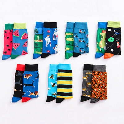22 Style Mens Funny Novelty Socks Crazy Cute Cool Cotton Food animal Crew Socks
