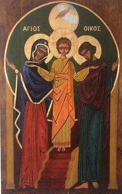 Icon Of The Holy Family  Made In Poland