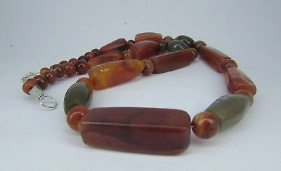 Ancient Carnelian beads of Gandhara region & green agate beads Of Mughal empire