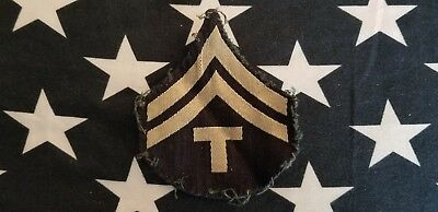 WWII US ARMY TECHNICIAN 5TH GRADE T/5 RANK INSIGNIA PATCH D-DAY Paratrooper