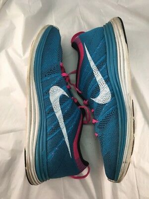 low priced a0c22 3a004 Nike 554887 414 Flyknit Lunar 1 Turquoise Men Running Shoes Size 10 One 1  Neon