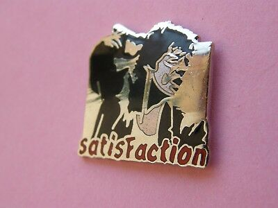 pin's THE ROLLING STONES , satisfaction - signé CORNER , musique , rock , pins