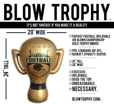 """Fantasy Football Trophy Blow Trophy GIANT Inflatable 24"""" x 20"""" Annual Perpetual"""
