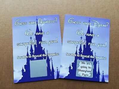 Personalised Disney, Legoland, Lapland, Concert Holiday etc. Reveal Scratch Card