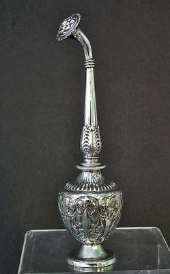 Antique 19th Century Islamic Indian Solid Silver Rosewater Sprinkler India