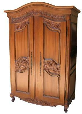 Beautiful Solid Mahogany Armoire  2 Doors Double Wardrobe H201 x W131 x D69 cm
