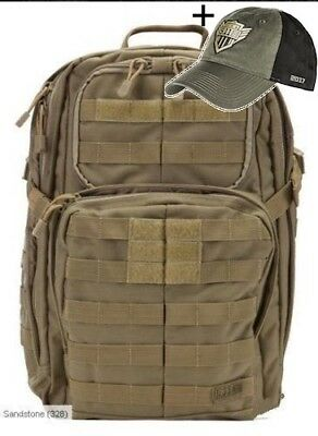 5.11 Tactical Rush 24 SANDSTONE Back Pack with Free Cap