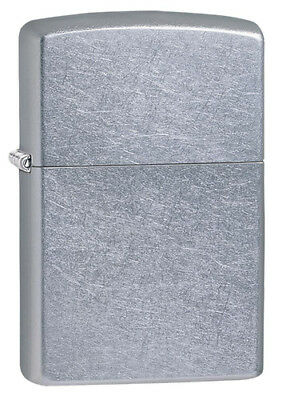 NEW Zippo Genuine Windproof Lighter 207 Regular Street Chrome