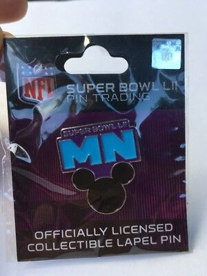 NFL Disney Mickey Mouse Super Bowl 52 LII 2018 Lapel trading pin Minneapolis