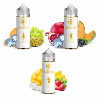 Dampflion Checkmate Aroma 3x10ml WHITE KING, KNIGHT, QUEEN + 3x120ml PET Flasche