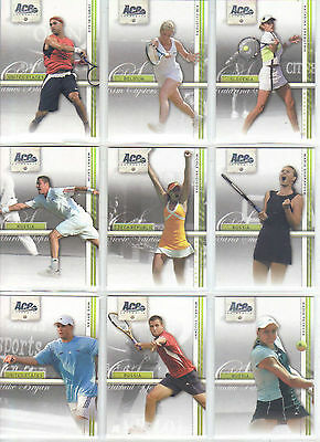 Tennis Ace Authentic Straight Set complet 50 trading cards Nadal Federer