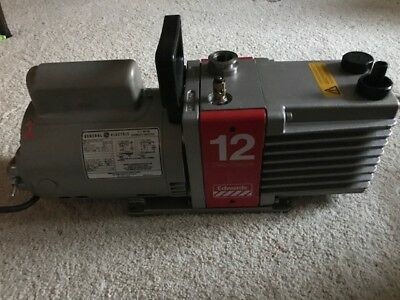 Recent Refurbished EDWARDS E2M12 Two Stage Vacuum Pump, Actual Test to 42 Micron