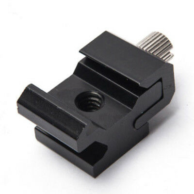 Flash Hot Shoe Mount Adapter to 1/4 Thread For Studio Light Stand Tripod Bracket