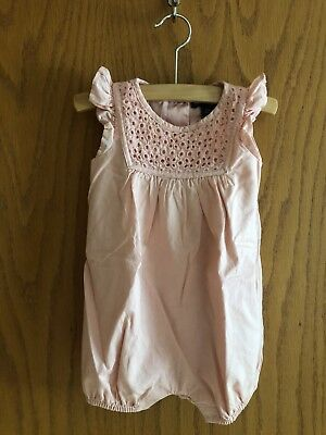 Baby GAP Infant Girls Light Pink 100% Cotton Sleeveless Romper Size 3-6 Months