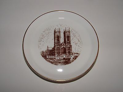 Westminster Abbey Souvenir Plate, Coalport Bone China, Age Unknown,  pre-owned