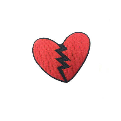 Embroidered Patches Iron Sew On Patches transfers Badges Broken Heart for Jacket