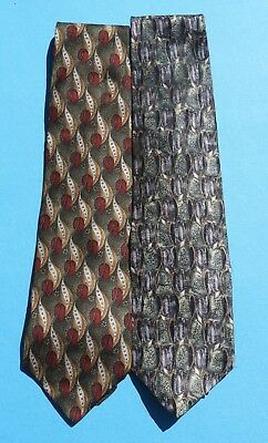 "Lot of 2 Cocktail Collection Vodka Tonic & Champagne Men's 56&60"" Neck Ties"