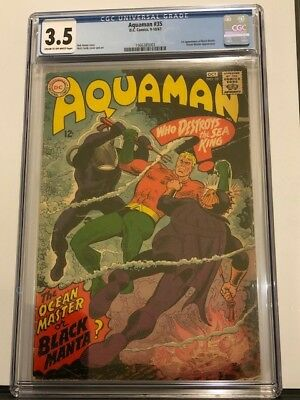 Aquaman #35 CGC 3.5 - First Appearance Of Black Manta!