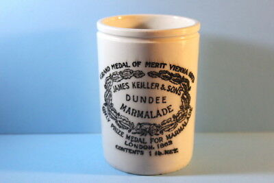Antique James Keiller & Sons Dundee Marmalade Stoneware Pot Jar Crock