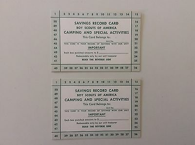 BSA Boy Scouts Saving Record Cards (2) Camping Activities, No. 4247, 300M1157