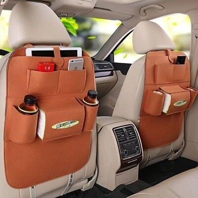 Car Back Seat Organizer Holder Ceiling Multifunction Travel Storage Bag