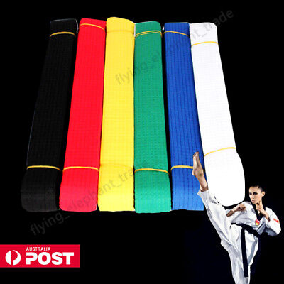 Karate Taekwondo Belt Martial Arts Judo Double Wrap Belt Strap Waistband AU