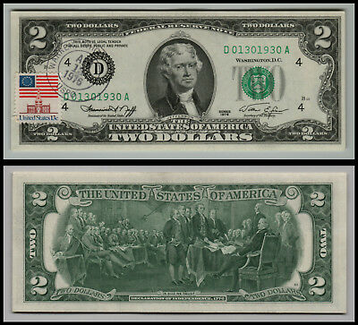 2 Dollar Bills 1976 W 1st Day Of Issue Canceled Stamp LOT0916