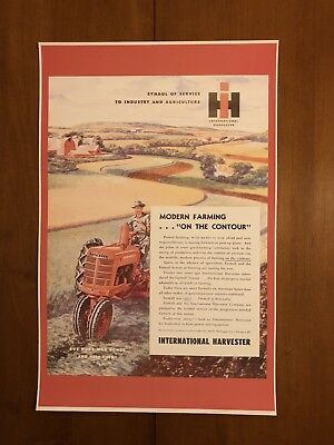 Vintage International Harvester Tractor Poster Man Cave Garage Art