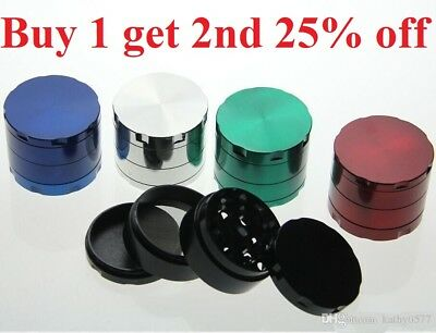 Tobacco Grinder ALLOY Crusher Hand Muller Smoke Herbal Herb 4 Layer Metal NEW 1