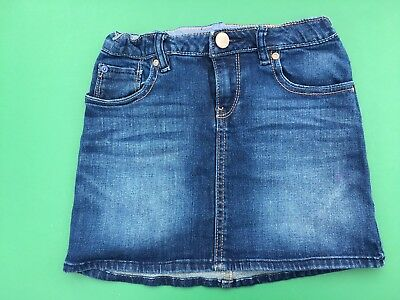 Gap Girls Navy Blue Denim Skirt with Adjustable Waist -  Sz 10
