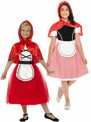 Girls Deluxe Little Red Riding Hood Costume World Book Day Week Fancy Dress