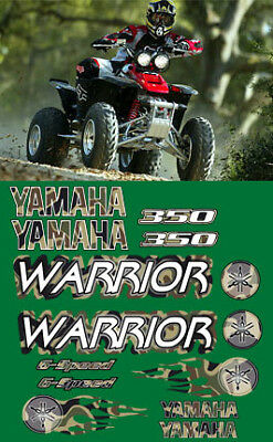 Warrior yamaha Decals CAMO Stickers Graphics 14pc ATV QUAD, 350, 6 speed