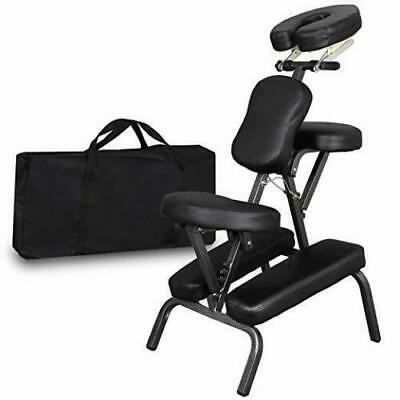 Portable PU Leather Pad Travel Tattoo Spa Massage Chair w/ Carrying Bag