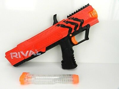 Nerf Rival Apollo XV-700 Blaster Spring Action Holds 7 High Impact Rounds Red