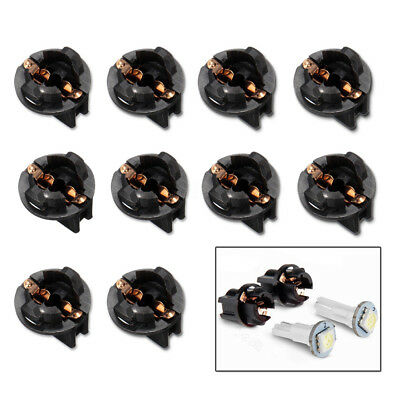 10x Car Auto T10 W5W 168 192 194 Wedge Instrument Panel Dash Light Base Socket