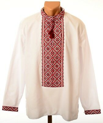 Ukrainian Hand Embroidered Men's Shirt Sorochka Embroidery Vyshyvanka. Size -XXL