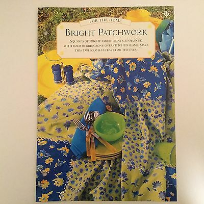Needlework pattern: Bright patchwork design and instructions